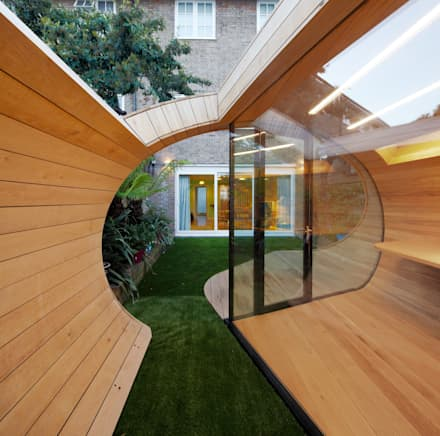Shoffice : modern Garage/shed by Platform 5 Architects LLP