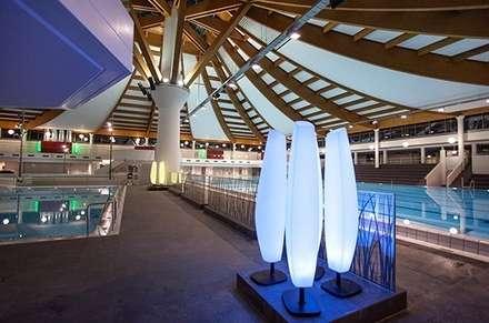 LED Beleuchtung mit Farbwechselmöglichkeit:  Stadien von Ingenieurbüro pep Innenarchitektur