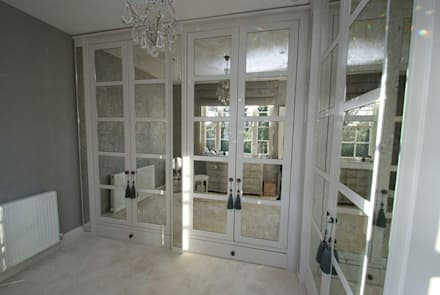 Antique mirror glass dressing room: modern Dressing room by Mirrorworks, The Antique Mirror Glass Company
