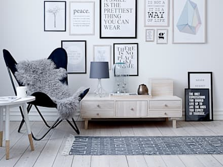 Bloominville Storage Unit: scandinavian Living room by House Envy