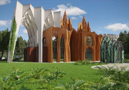 Банкетный зал в Балашихе: Дома в . Автор – Архитектурное бюро и дизайн студия 'Линия 8'