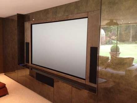 muti purpose cinema room: modern Media room by Designer Vision and Sound