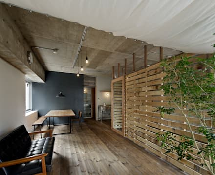 rustic Living room by 蘆田暢人建築設計事務所 ​Ashida Architect & Associates