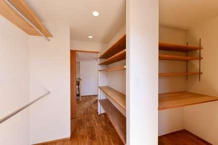 ウォークインクローゼットと納戸: 祐建築設計事務所が手掛けたウォークインクローゼットです。