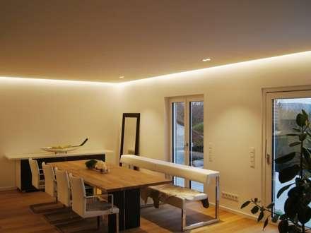 Villa Saarbrücken: moderne Esszimmer von Bolz Planungen für Licht und Raum