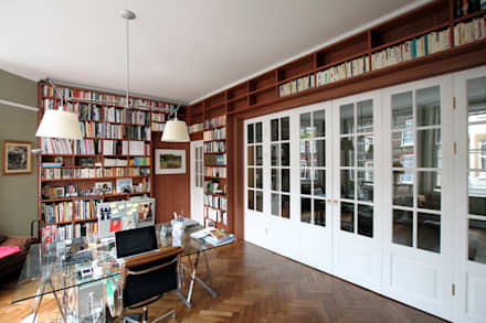Wraparound Library & French Doors, Hampstead: minimalistic Study/office by Tendeter