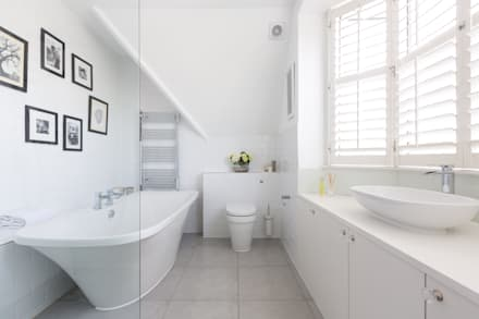 Broadgates Road: minimalistic Bathroom by Granit Chartered Architects