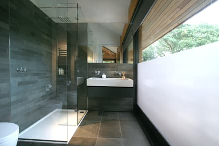 Cedarwood: modern Bathroom by Nicolas Tye Architects