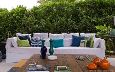 Terrazas de estilo  por Marilia Veiga Interiores