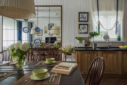 Загородный дом в скандинавском стиле: Столовые комнаты в . Автор – COUTURE INTERIORS