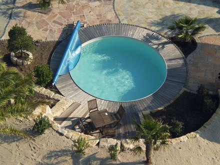 Hochwertige Stahlwandpools mit langer Haltbarkeit: klassischer Pool von Pool + Wellness City GmbH