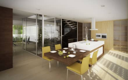 Gaia House: Cozinhas modernas por EVA | evolutionary architecture