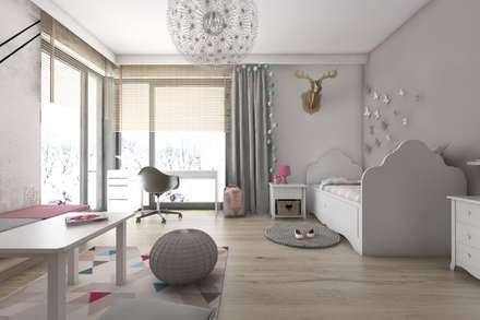 modern Nursery/kid's room by BAGUA Pracownia Architektury Wnętrz
