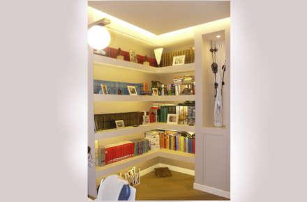 Intervento di Ristrutturazione di un appartamento zona Monteverde, a Roma .: Ingresso & Corridoio in stile  di NicArch