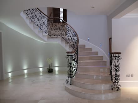 London domestic staircase:  Corridor & hallway by Stair Factory