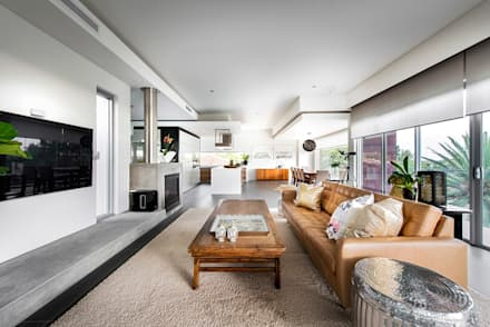 Open Plan Living Room: Modern Living Room By D Max Photography
