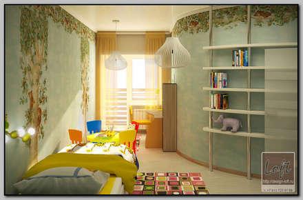 Детская комната для 2-хлетней малышки: Детские комнаты в . Автор – Мастерская дизайна  LOFT