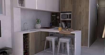 Beach House - Kitchenette: Cozinhas ecléticas por Santiago | Interior Design Studio