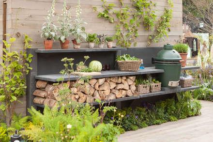 WWOO Concrete Outdoor Kitchen: landelijke Tuin door NewLook Brasschaat Keukens