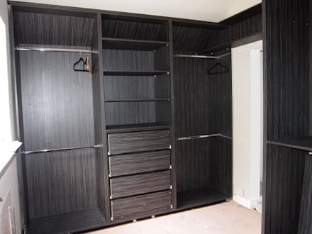 Walk In His And Heru0027s Wardrobes. Before And After Photos.: Modern Dressing  Room Part 47