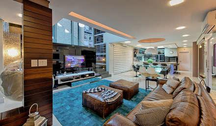 Living e sala de jantar: Salas de estar modernas por Espaço do Traço arquitetura