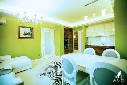 Интерьер квартиры  80 м2: Столовые комнаты в . Автор – Apolonov Interiors
