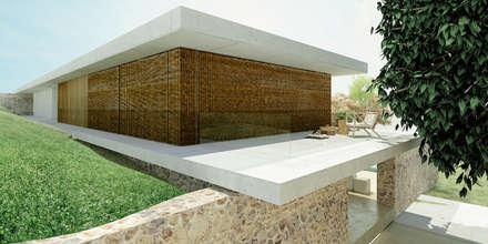 Casa I+F: Terraços  por Artspazios, arquitectos e designers