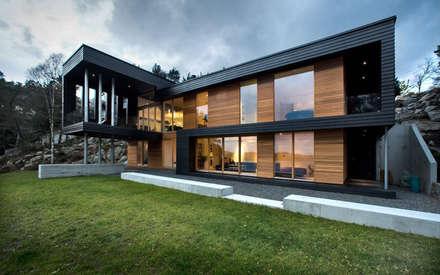 GN ARCHİTECTURE OFFİCE – Dış cephe ve peyzaj: minimal tarz tarz Evler