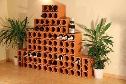 Weinlagersteine aus Ton: mediterraner Weinkeller von Rimini Baustoffe GmbH