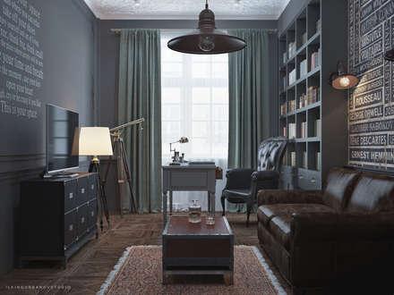 Дизайн кабинета в Баку: Рабочие кабинеты в . Автор – ILKINGURBANOV Studio