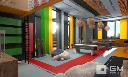 Дом по Рублево-Успенскому шоссе : Детские комнаты в . Автор – GM-interior