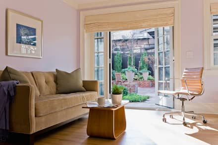 Brooklyn Heights Addition: colonial Living room by Ben Herzog Architect