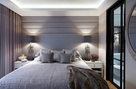 Lateral Apartment, Regents Park: modern Bedroom by Helen Green Design