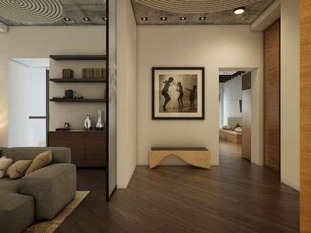 Eco Apartment in Tomsk:  Corridor & hallway by EVGENY BELYAEV DESIGN