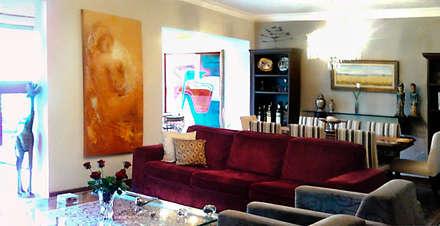Interiors & Furniture design: tropical Living room by Carol Weston Architecture & Interiors