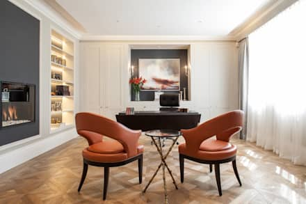 Photography for Kingshall Estates / Vastu Interiors - House in Northwood, London: modern Study/office by Adelina Iliev Photography