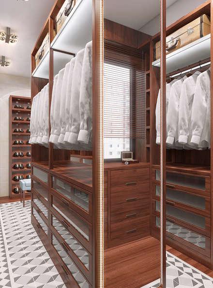 غرفة الملابس تنفيذ FEDOROVICH Interior