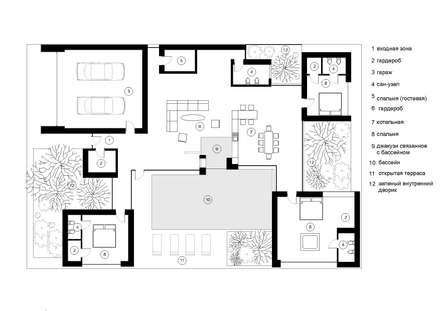 проект частного жилого дома в Ростове-на-Дону: Дома в . Автор – Архитектурная студия Чадо