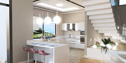 Çağrı Aytaş İç Mimarlık İnşaat – HANEDAN KONUTLARI: modern tarz Mutfak