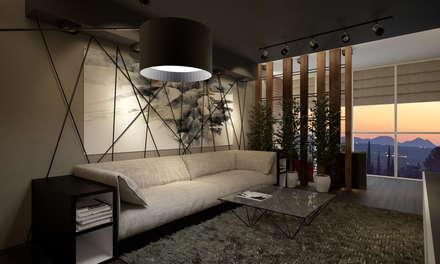 Квартира 200 кв.м. ЖК Европейский г. Краснодар: Гостиная в . Автор – Room Краснодар