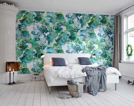 Lily Pond: scandinavian Walls & floors by Rebel Walls