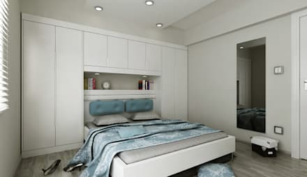Niyazi Özçakar İç Mimarlık – N.Ö. EVİ: modern tarz Yatak Odası