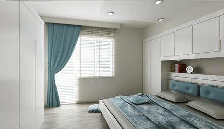 Niyazi Özçakar İç Mimarlık - N.Ö. EVİ: modern tarz Yatak Odası