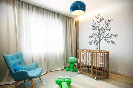 industrial Nursery/kid's room by CO:interior