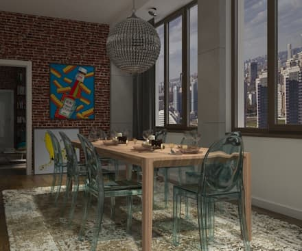 Активные акценты: Столовые комнаты в . Автор – CO:interior
