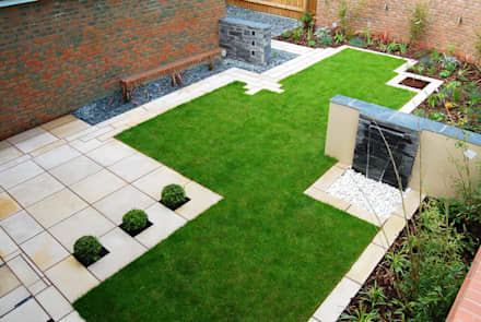 Modern Garden Design small modern garden design The Lollipop Garden Modern Garden By Robert Hughes Garden Design