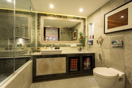 Eclectic Apartment: asian Bathroom by The Orange Lane