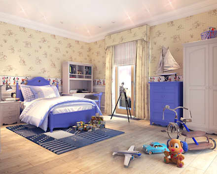country Nursery/kid's room by Your royal design