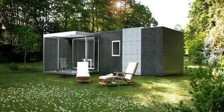 Cube Basic de 36 m2: Casas de estilo moderno de Casas Cube