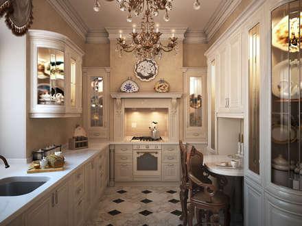 Дом с английскими мотивами: Кухни в . Автор – премиум интериум